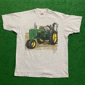 Vintage 90's John Deere Tractor Single Stitch Tee